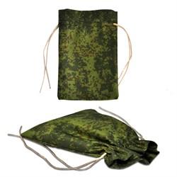 Подарочный мешок цвета хаки, средний (140х200мм) - фото 101662