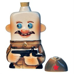 """Штоф керамический, малый """"Солдат"""" - фото 105380"""