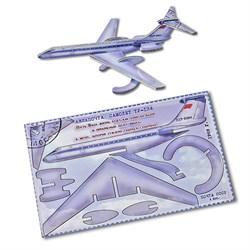 """Подарочная открытка """"ТУ-134"""" + конструктор из дерева - фото 12761"""