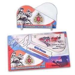 """Подарочная открытка """"МЧС России"""" + визитница из дерева - фото 12768"""