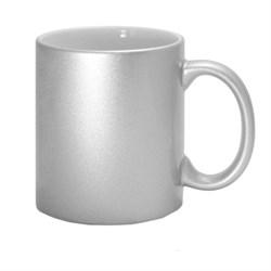 """Кружка для сублимации """"Металлик"""" (серебряная) - фото 13360"""