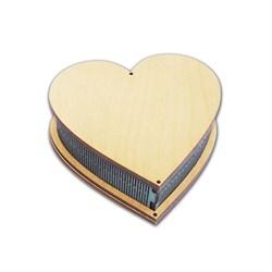 Шкатулка в виде сердца - фото 13772