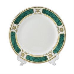 Тарелка с зеленым ободком под нанесение фото - фото 14598