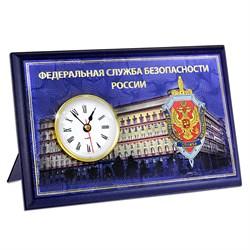 """Настольная плакетка """"ФСБ"""", с часами - фото 24437"""