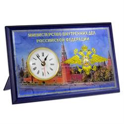 """Настольная плакетка """"МВД"""", с часами - фото 24442"""