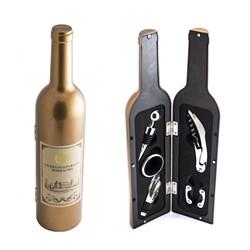 """Набор винный бутылка """"Золотая"""", 5 предметов - фото 24766"""