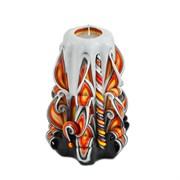Резная свеча «Огненная» (высота 12 см)