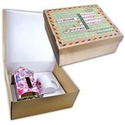Чайный домик + кружка в подарочном наборе «Весенняя магнолия»