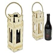 Подарочный деревянный футляр с резьбой для спиртных напитков