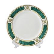 Тарелка с зеленым ободком под нанесение фото