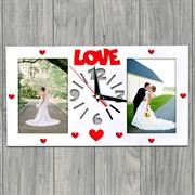 "Фоторамка ""LOVE"" с часами"