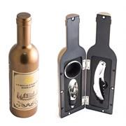 """Набор винный бутылка """"Золотая"""", 3 предмета"""