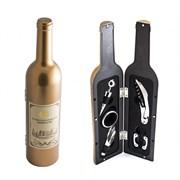 """Набор винный бутылка """"Золотая"""", 5 предметов"""